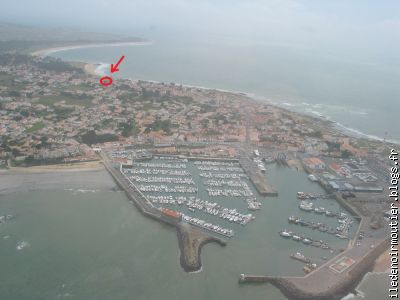 Pointe de l'ile avec le port de l'Herbaudi�re